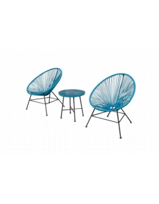 Culcita Woven Moon Chairs & Table Set