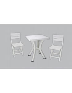 Culcita 3 Piece Resin Bistro Set White White
