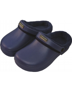 Town & Country Fleecy Cloggies Navy Size 5