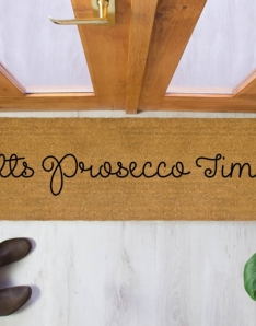 It's Prosecco Time Patio Doormat