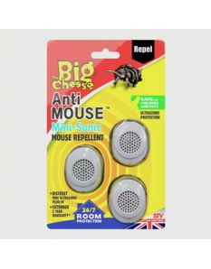 The Big Cheese Anti Mouse Mini Sonic Mouse Repellent 3 Pack