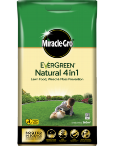 Miracle Gro Natural 4 in 1 Feed, Weed & Mosskiller 260sqm