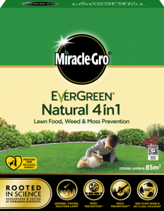Miracle Gro Natural 4 in 1 Feed, Weed & Mosskiller 85sqm