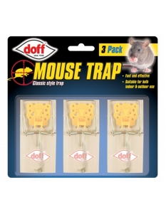 Doff Wooden Mouse Trap Pack 3